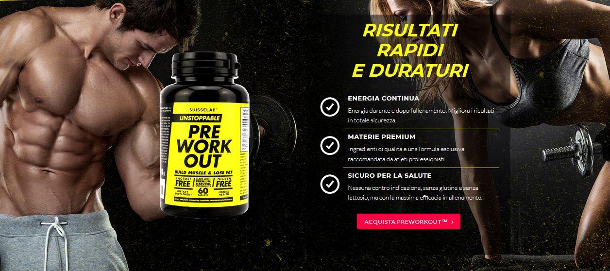 Pre Workout integratori