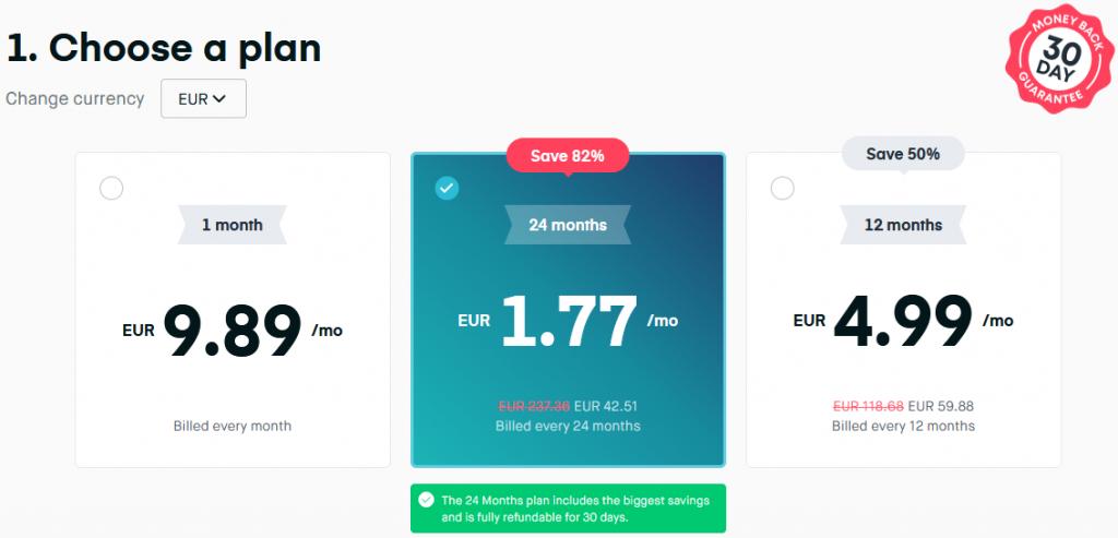 costo servizio vpn